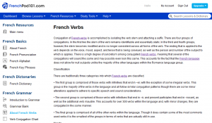 French Pod 101 Verbs 1