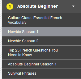 French Pod 101 Absolute Beginner
