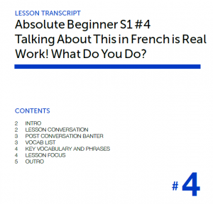 French Pod 101 Audio 3