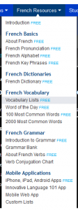 French Pod 101 Vocab 2