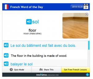French Pod 101 Vocab 4